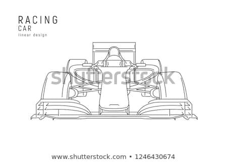 autó · autó · logo · sablon · sebesség · vektor - stock fotó © alexdanil
