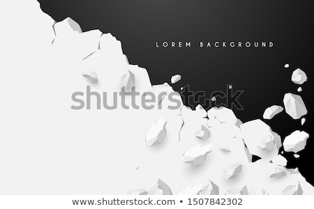 Stock photo: Hole in the crushed wall. Damage ground. vector