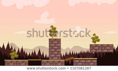 a forest jumping game template stock photo © bluering