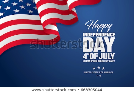 Сток-фото: Happy Independence Day Of The Usa Vector Illustration Fourth Of July Design With Air Balloon And Fa