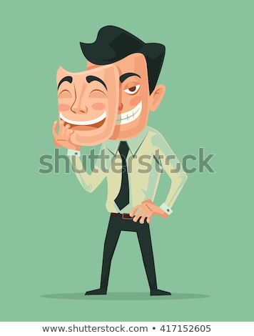 Zło człowiek maska dobre komiks cartoon Zdjęcia stock © rogistok