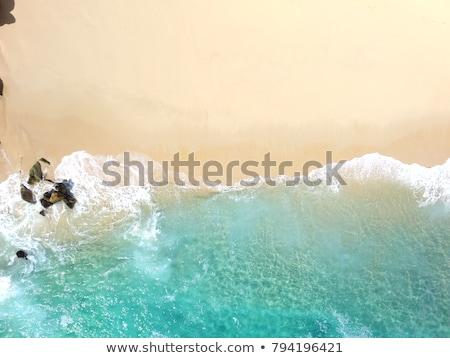 Trópusi fehér homok tengerpart légi légifelvétel pont Stock fotó © vichie81