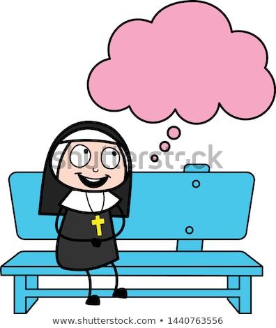 rahibe · örnek · kadın · siyah · kişi · karikatür - stok fotoğraf © cthoman