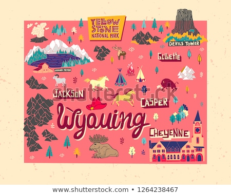 Cartoon Wyoming Stock photo © cthoman