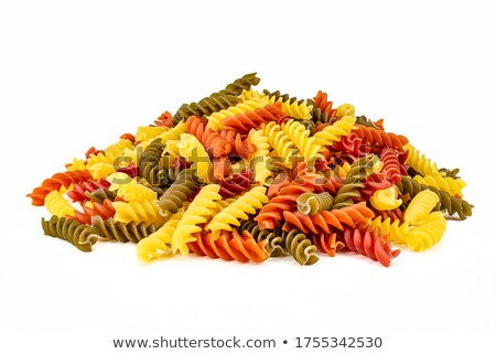 spiral macaroni of different color stock photo © dash