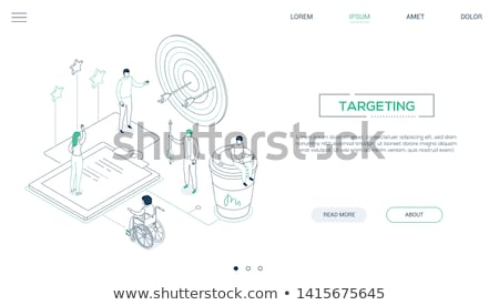 Hit the target - modern isometric vector web banner Stock photo © Decorwithme