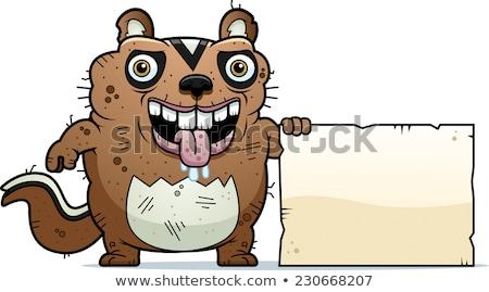 Karikatür çirkin çizgili sincap imzalamak örnek hayvan Stok fotoğraf © cthoman