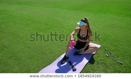 перерыва · спортсмена · спортсмен · питьевая · вода · бутылку - Сток-фото © boggy