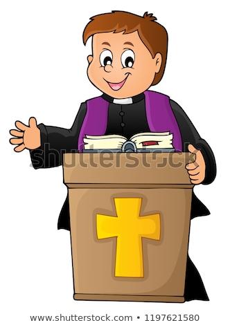 Jovem padre tópico imagem livro homem Foto stock © clairev