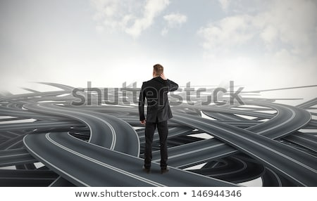 Businessman in uncertainty business concept Stock photo © Elnur