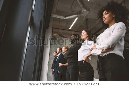 Imprenditori guardare lontano futuro lavoro di squadra Foto d'archivio © alphaspirit