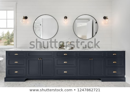 Mistrz łazienka podwoić umywalka próżność szafka Zdjęcia stock © iriana88w