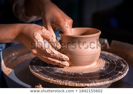 man · handen · keramische · eiland · Thailand - stockfoto © m_pavlov