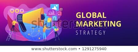 Banner comercialización especialista altavoz influir Foto stock © RAStudio