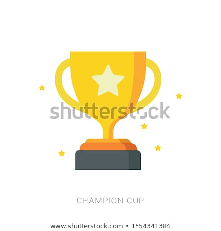 Stock photo: Champion Golden Trophy Cup Vector Illustration