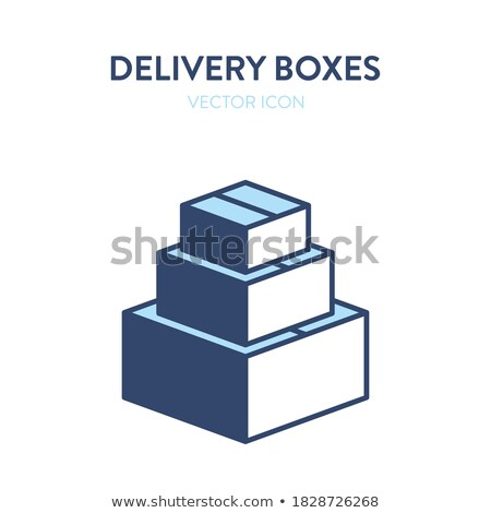 Carton Package Sealed with Adhesive Tape Vector Stock photo © robuart