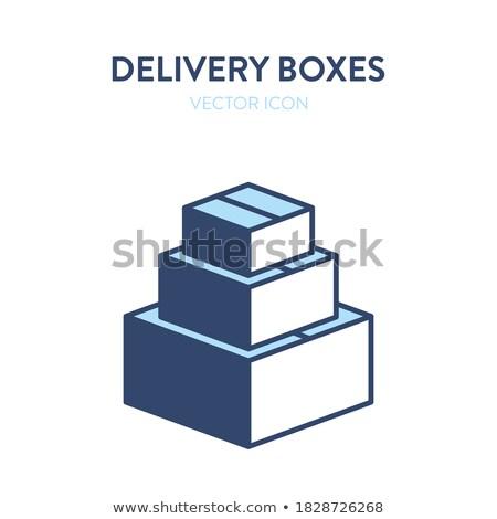 Karton pakket plakband vector helpen geïsoleerd Stockfoto © robuart