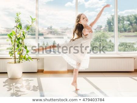 menina · estudar · balé · bonitinho · little · girl · sonhos - foto stock © choreograph