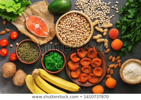 Termékek egészséges étel űr szöveg felső kilátás Stock fotó © furmanphoto