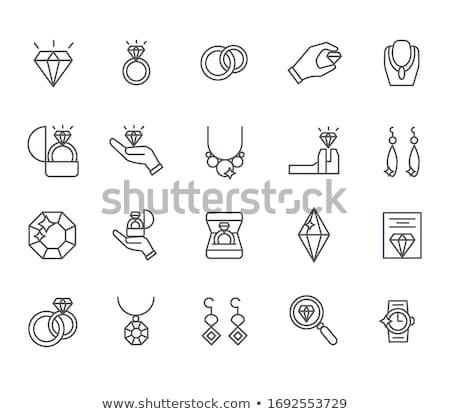 Jeweler icons set Stock photo © netkov1