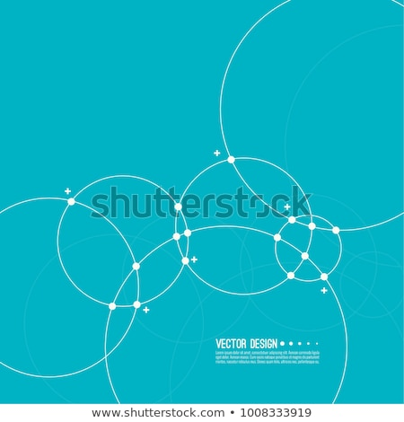 Abstract Blauw cirkels business achtergrond frame Stockfoto © designleo