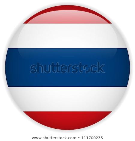 Tajlandia banderą naklejki projektu ilustracja tle Zdjęcia stock © colematt