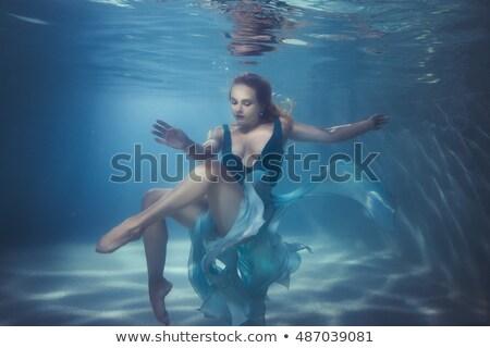 Vrouw bodem zwembad water dans sport Stockfoto © galitskaya