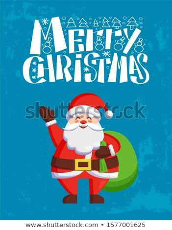 Vidám karácsony apa fagy üdvözlet mindenki Stock fotó © robuart