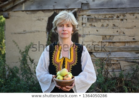 Adult female in Bulgarian folk costume, Stara Planina Serbia Stock photo © simazoran