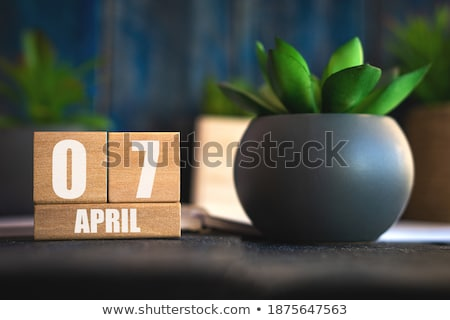 Cubes calendar 7th April Stock photo © Oakozhan