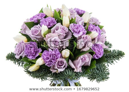 Saudação flores buquê fresco naturalismo Foto stock © artjazz