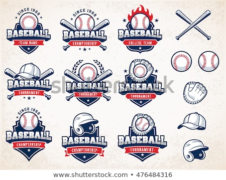 embléma · baseball · labda · dizájn · elem · logo · címke - stock fotó © netkov1
