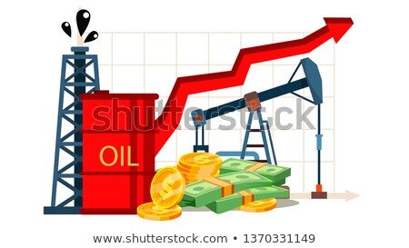 Сток-фото: Petroleum Cost Inflation, Financial Literacy Vector Drawing