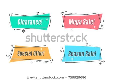 big set of flat colorful ribbons banner stock photo © sarts