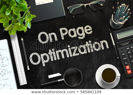 Conversion Optimization on Black Chalkboard. 3D Rendering. Stock photo © tashatuvango