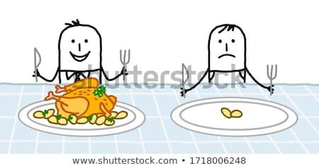 Hongerig aardappel mes vork geïsoleerd Stockfoto © hittoon