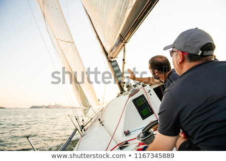 Stockfoto: Team · jacht · opleiding · concurrentie · water