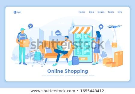kadın · süreç · alışveriş · ayakta · gülen · araba - stok fotoğraf © robuart