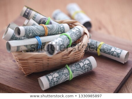 Stok fotoğraf: Rolled Us Dollar As Food Product