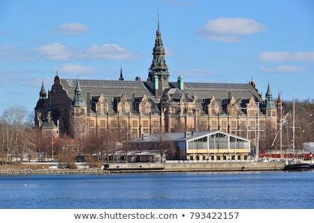 északi múzeum Stockholm sziget központi Svédország Stock fotó © borisb17
