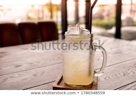 Ingredienti fatto in casa limonata limone calce menta Foto d'archivio © karandaev