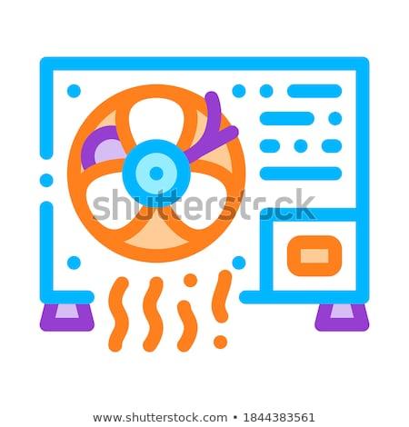 Werken conditioner vector dun lijn icon Stockfoto © pikepicture