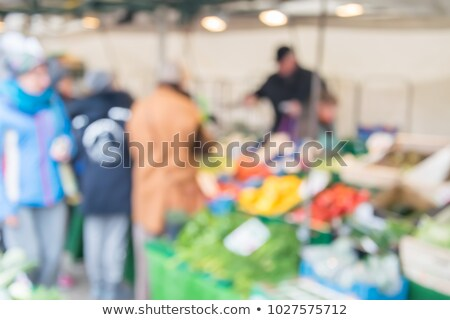 Floue agriculteur marché fond alimentaire ville Photo stock © boggy