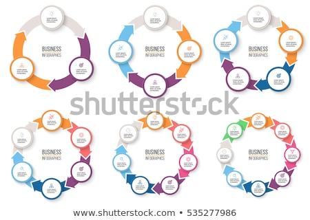 Стрелки Инфографика диаграммы графа диаграмма Сток-фото © kyryloff