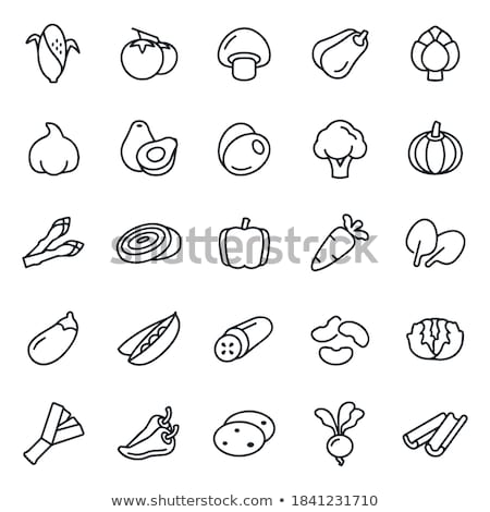 Alho-porro cebola ícone cor escada projeto Foto stock © angelp
