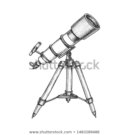 Telescopio monocromo vector pie Foto stock © pikepicture