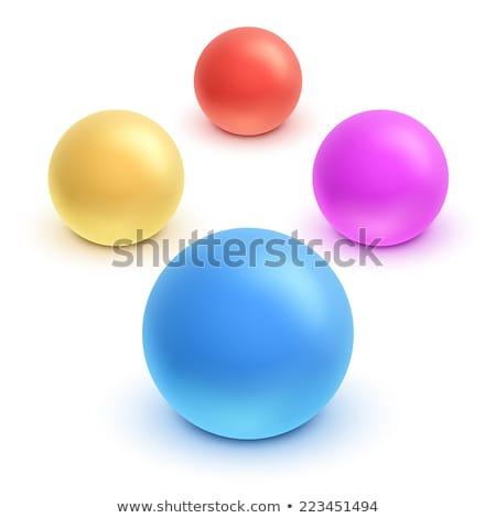надувной мяча играх пляж вектора изолированный Сток-фото © robuart