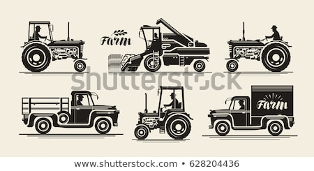 farming people tractor driver and gardeners set stock photo © robuart