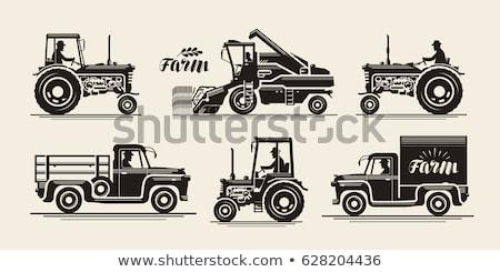Personnes tracteur pilote vecteur Photo stock © robuart