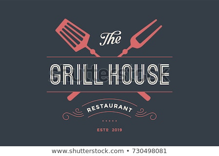 Meat logo. Logo for grill house restaurant with knife Stock photo © FoxysGraphic